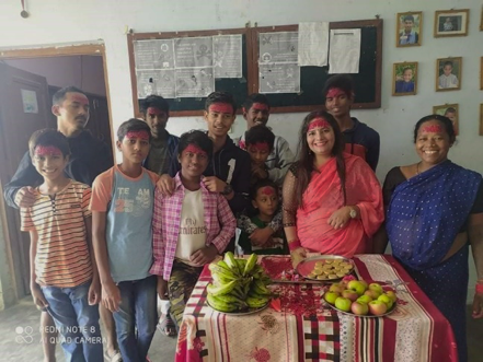 Celebrating Dashain Festival